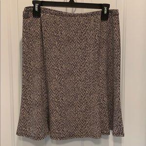 Express Elastic Waistband Flared Skirt